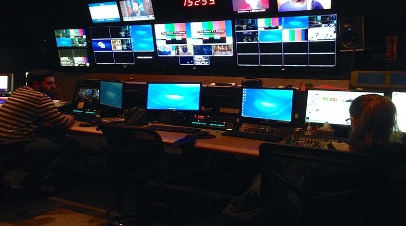 Broadcast Control Room at CRM Studios