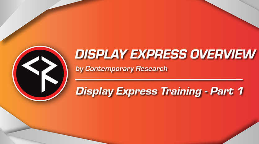 Display express training part one orange and red banner