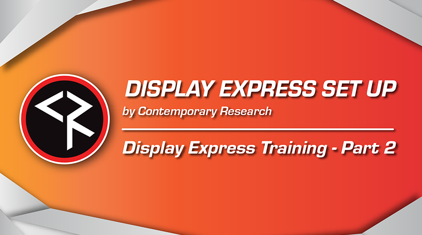 Display express part 2 red and orange banner
