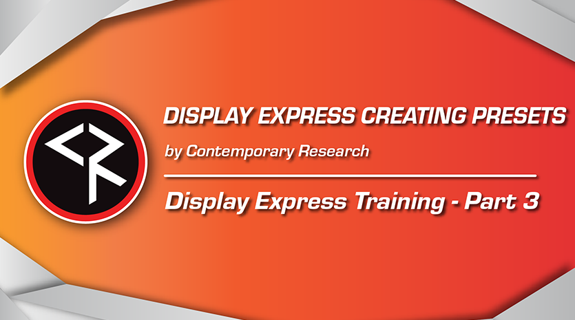 Display express part 3 red and orange banner