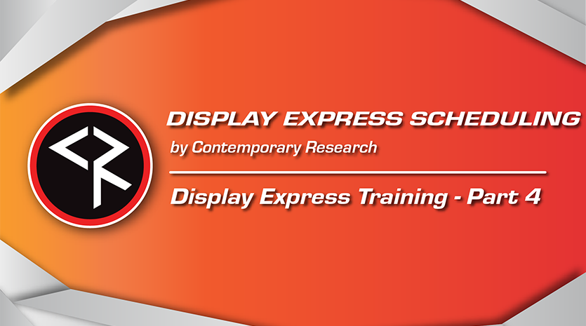 Display express part 4 red and orange banner