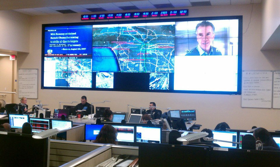 LA Police Department EOC Command Room