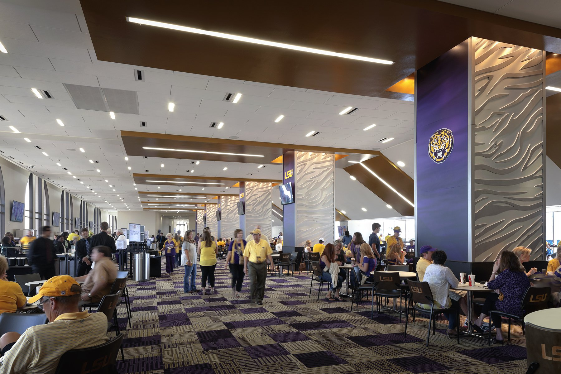 LSU Tiget Stadium Suite Lounge