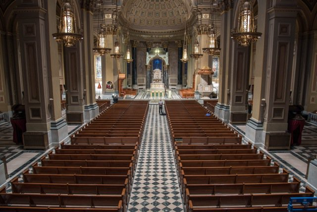 Interior of Cathedral Basilica of Sts. Peter and Paul
