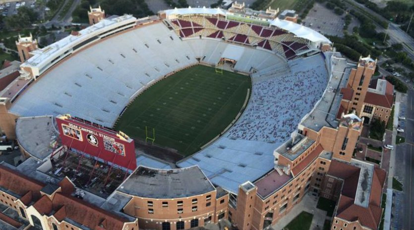 Overhead of FSU Doak Campbell Stadium