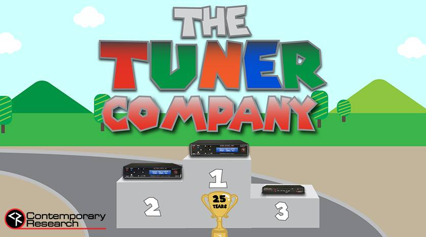 The Tuner Company with award stand and tuners