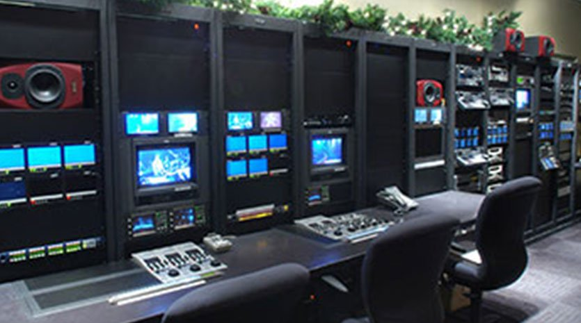 City Clear Broadcasting Group control room.